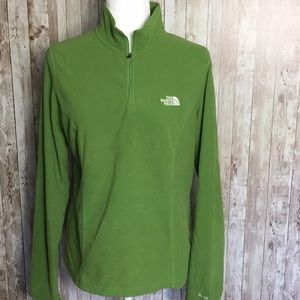 The North Face Lime Green Fleece Pullover Sz L
